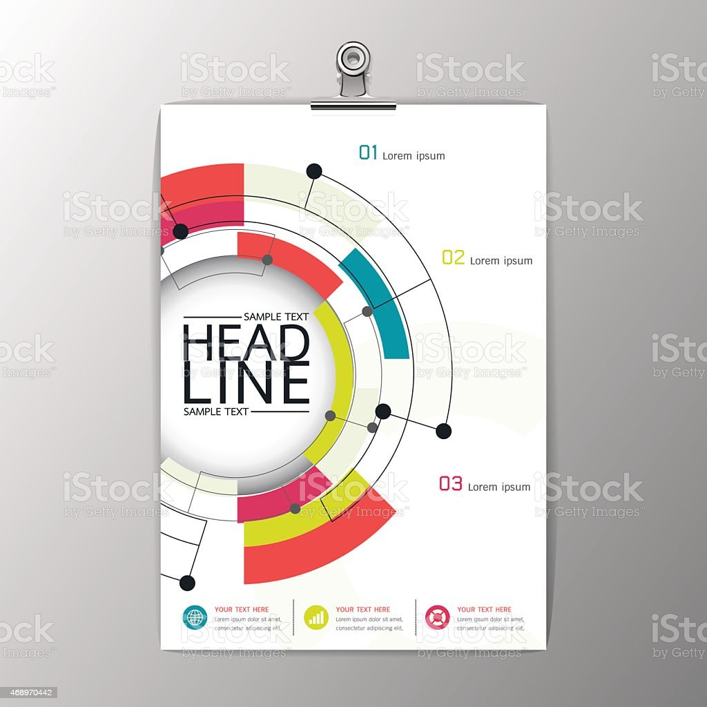 a4 abstract modern circle design brochure template layout vector illustration royalty free a4