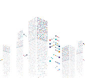 abstract modern city office building pattern background