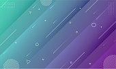 Abstract Modern Colors Gradient Geometric Shape Editable Vector Design