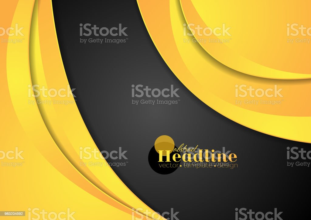 Abstract modern corporate waves background vector art illustration