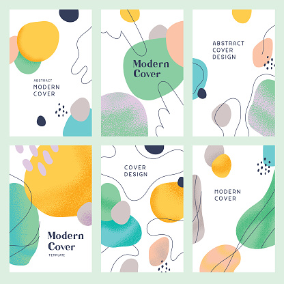 Abstract modern cover templates