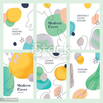 Collection of trendy cover designs for multiple purposes.  Fully editable vectors.