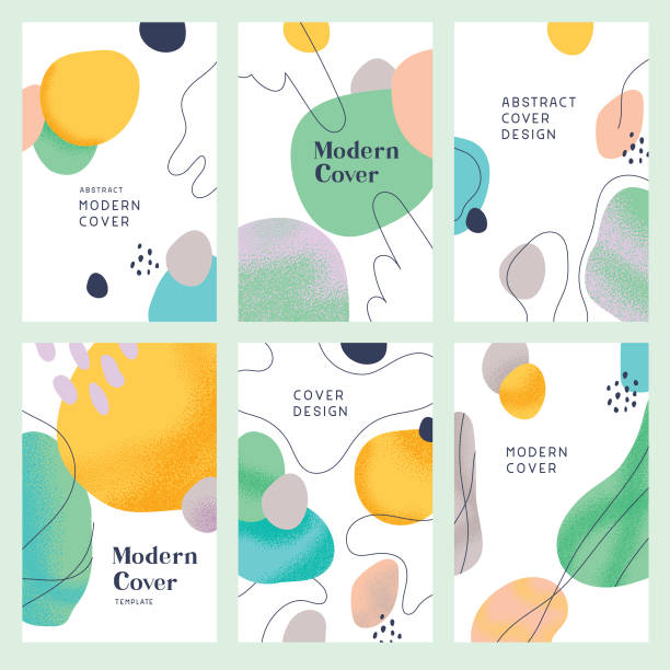 ilustrações de stock, clip art, desenhos animados e ícones de abstract modern cover templates - fofo texturizado