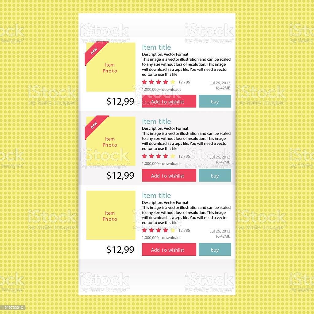Abstract modern flat infographics options banner for online shop. vector art illustration