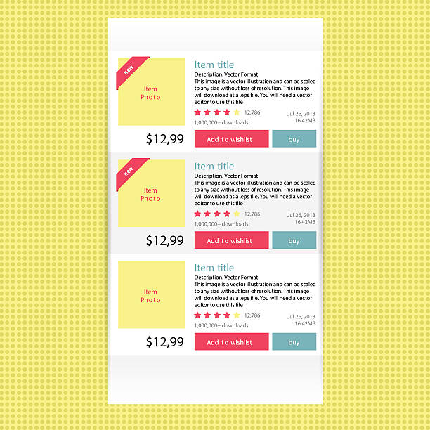Abstract modern flat infographics options banner for online shop. vector art illustration