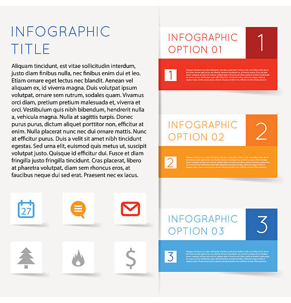 Abstract modern flat infographics options banner steps vector art illustration