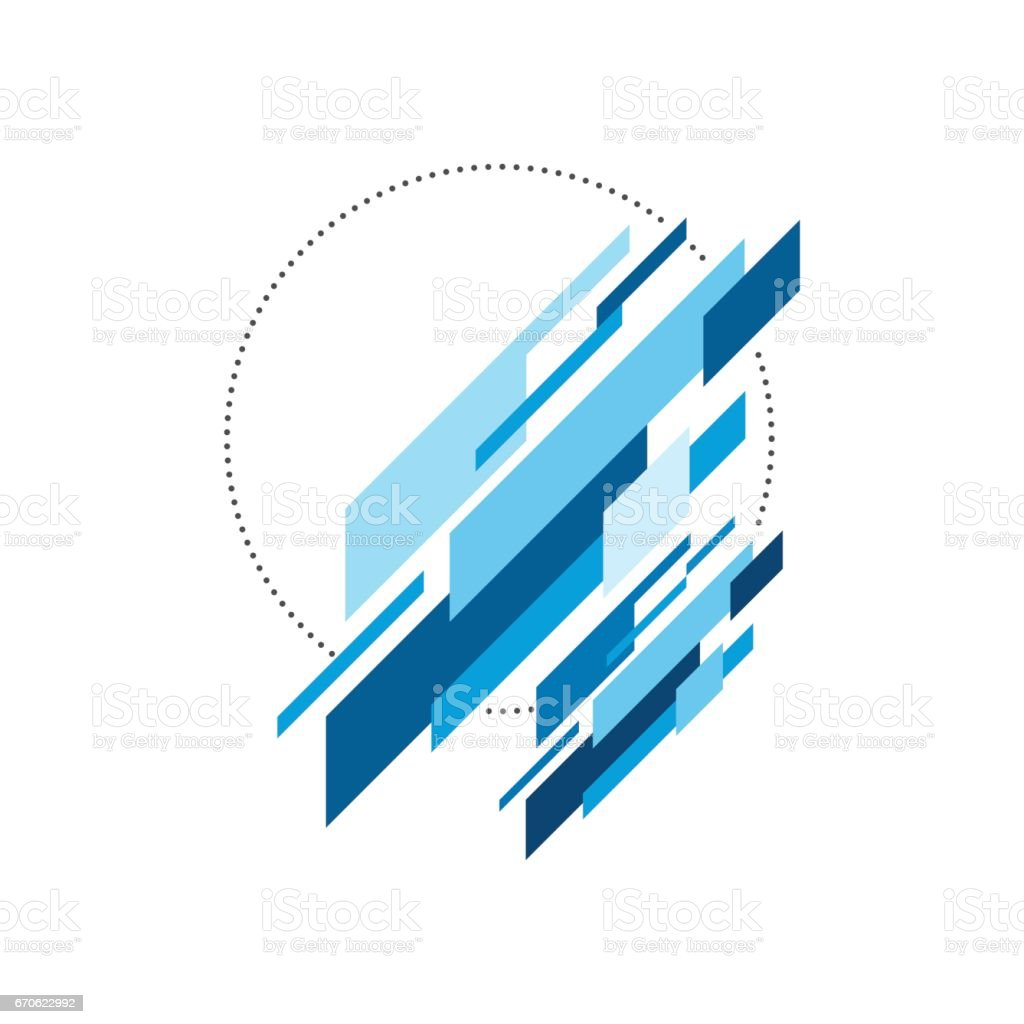 Abstract modern geometric isometric background, vector illustration vector art illustration