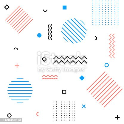 Abstract modern geometric retro background. Vector eps10