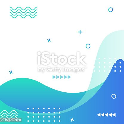 istock Abstract Modern Geometric Sale Banner Template for Web Social Media Promotion Editable Vector Design 1194169128