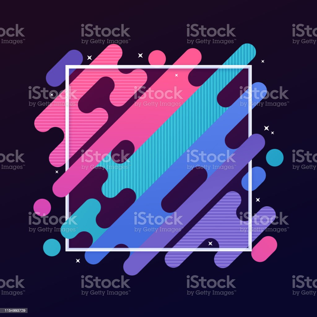 Abstract Modern Gradient Frame Abstract modern gradient blob lines diagonal frame. Abstract stock vector