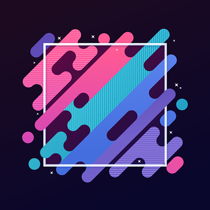 Abstract Modern Gradient Frame Stock Illustration - Download Image Now