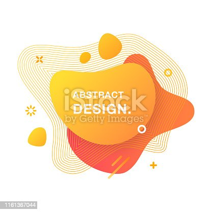 istock Abstract Modern Graphic Element. Abstract Gradient Liquid Shape. Fluid Vector Banners. 1161367044