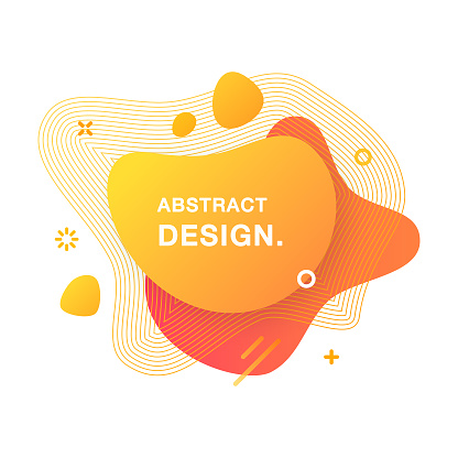 Abstract Modern Graphic Element. Abstract Gradient Liquid Shape. Fluid Vector Banners.