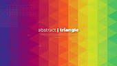 istock Abstract modern graphic element. Dynamically colored forms and triangles. Gradient abstract banner with triangle mosaic shapes. Template for the design of a website landing page or background. 1194355549