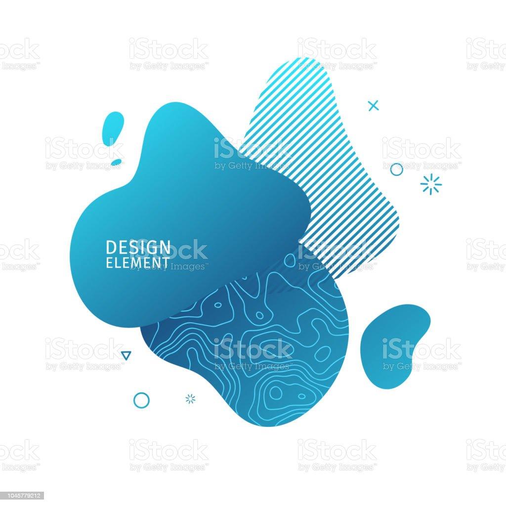 b3ea263c8ee0e Resumen elementos gráficos modernos. Forma de dinámicos de color azul y la  línea. Banner