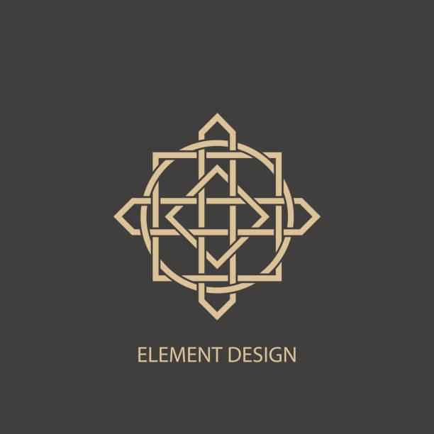 Abstract modern logo - ilustración de arte vectorial