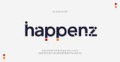 istock Abstract modern minimal alphabet fonts. Typography urban style for fun, sport, technology, fashion, digital, future creative logo font. vector illustration 1276760416