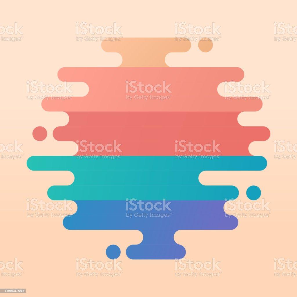 Lignes rondes modernes abstraites - clipart vectoriel de Abstrait libre de droits