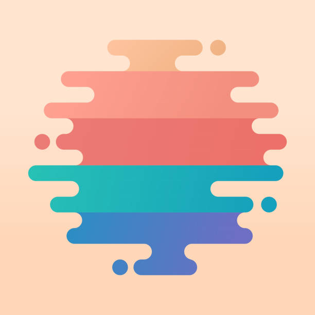 Abstract Modern Round Lines Abstract modern gradient blob lines round lines. hyphen stock illustrations