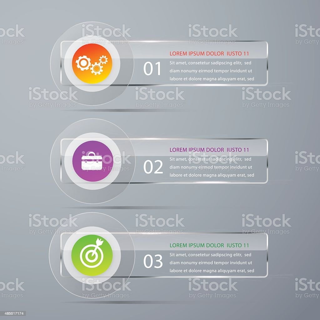 Abstract Modern template vector banner infographics. vector art illustration