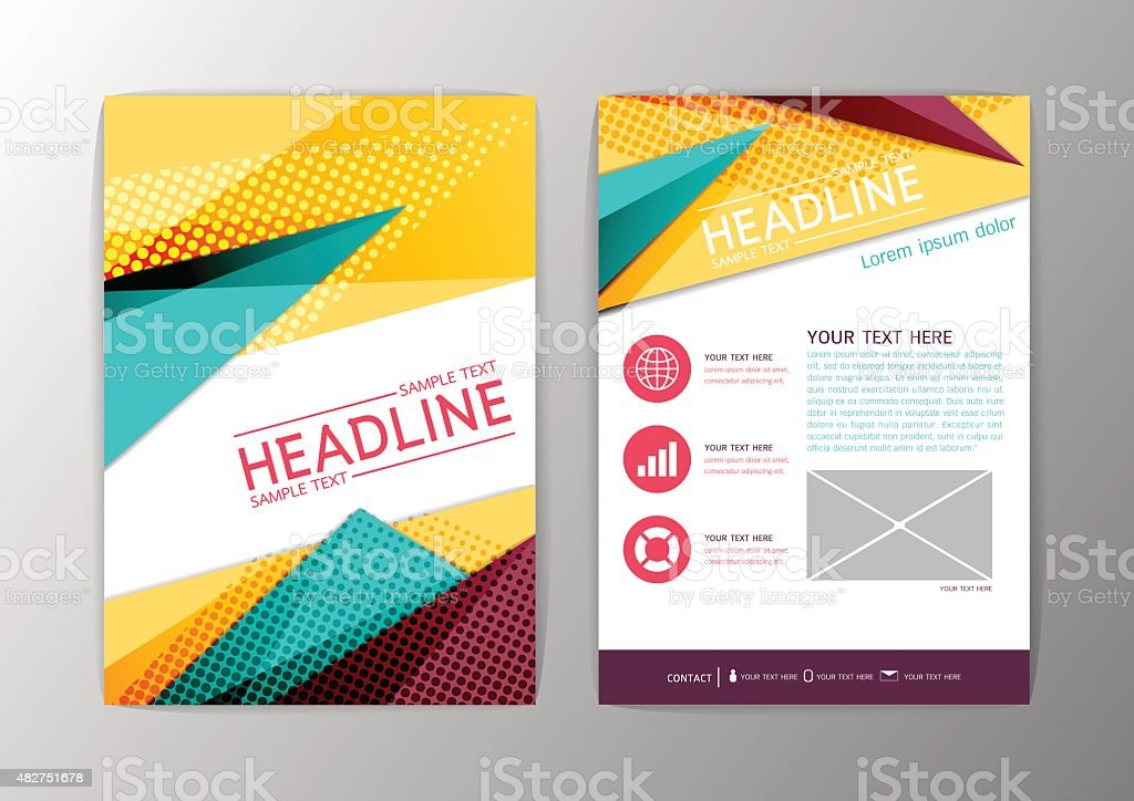 Abstract Modern Triangle Design Brochure Background Flyer Template