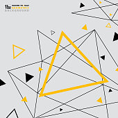 Abstract modern triangle pattern design of futuristic background yellow black. You can use for ad, poster, artwork element, brochure, cover design. vector eps10