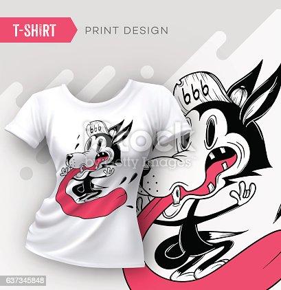 Abstract modern t-shirt print design.