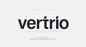 istock Abstract modern urban alphabet fonts. Typography sport, technology, fashion, digital, future creative logo font. vector illustration 1266378140