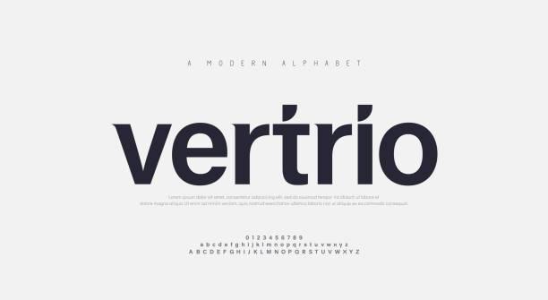 ilustraciones, imágenes clip art, dibujos animados e iconos de stock de fuentes abstractas del alfabeto urbano moderno. tipografía deporte, tecnología, moda, digital, futura fuente de logotipo creativo. ilustración vectorial - font