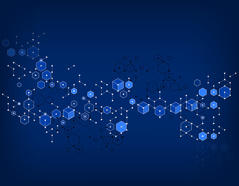 abstract molecular structure pattern background