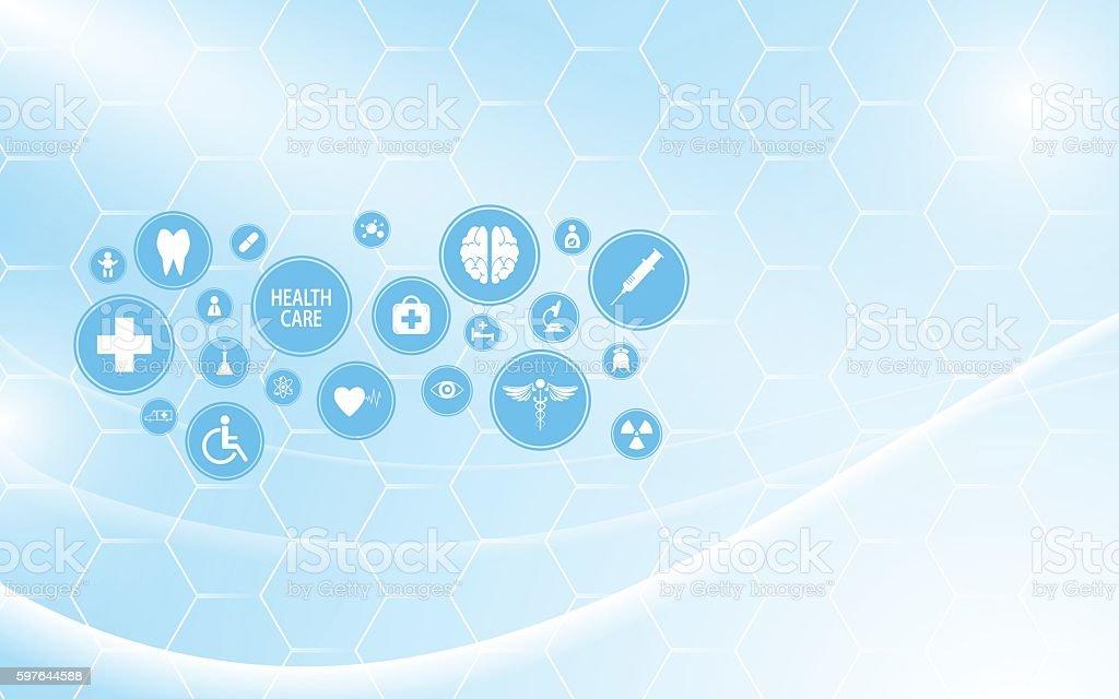 abstract molecular health care innovation technology pattern design background vector art illustration