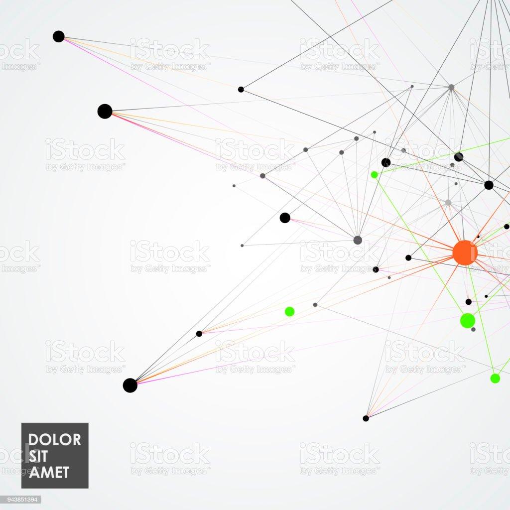 Ilustración de Patrón De La Red Molecular Abstracto Con Líneas ...