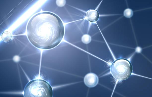 Abstrakte Molekülstruktur – Vektorgrafik