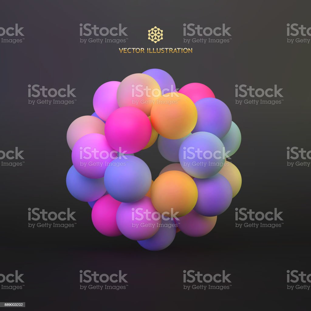 Abstract molecular structure with particles. Scientific background. Connection structure. 3D vector illustration for design. vector art illustration