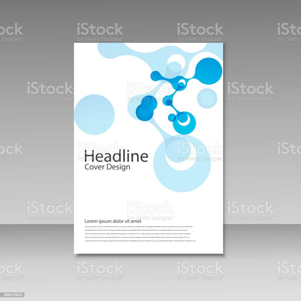 Abstract molecules brochure design. Vector cover template vector art illustration
