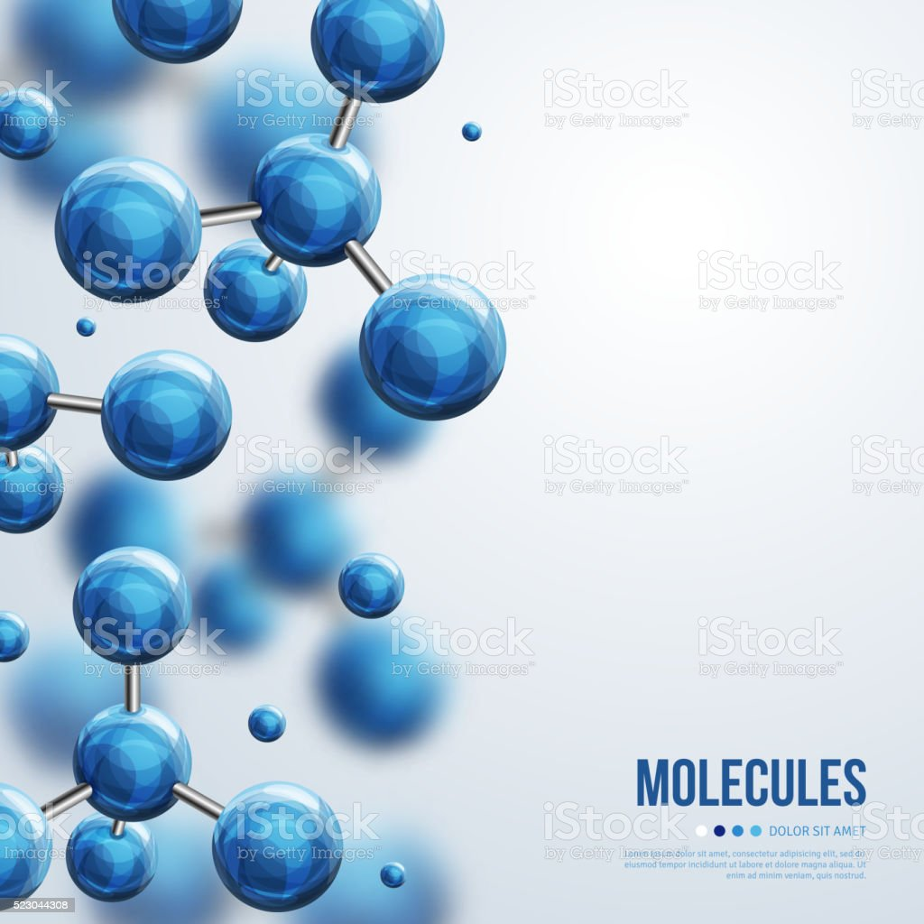Abstract molecules design vector art illustration