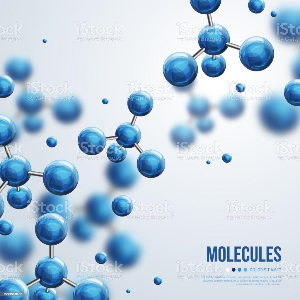 Abstract molecules design vector art illustration