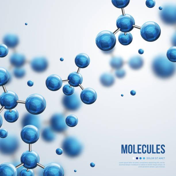 추상적임 분자 설계 - 분자 stock illustrations