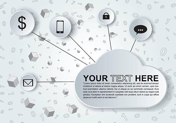 Abstract monochromatic social media design vector art illustration
