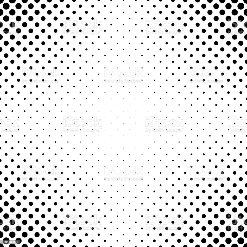 Abstract monochrome dot pattern - geometrical simple halftone vector background graphic from circles royalty-free abstract monochrome dot pattern geometrical simple halftone vector background graphic from circles stock vector art & more images of abstract