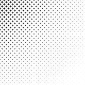 Abstract monochrome star pattern background design - vector illustration
