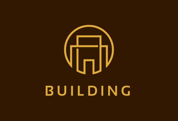 Abstrakt Monogramm Gebäude Eigenschaft Symbol Template Design Vektor, Emblem, Designkonzept, kreativen Symbol, Symbol – Vektorgrafik