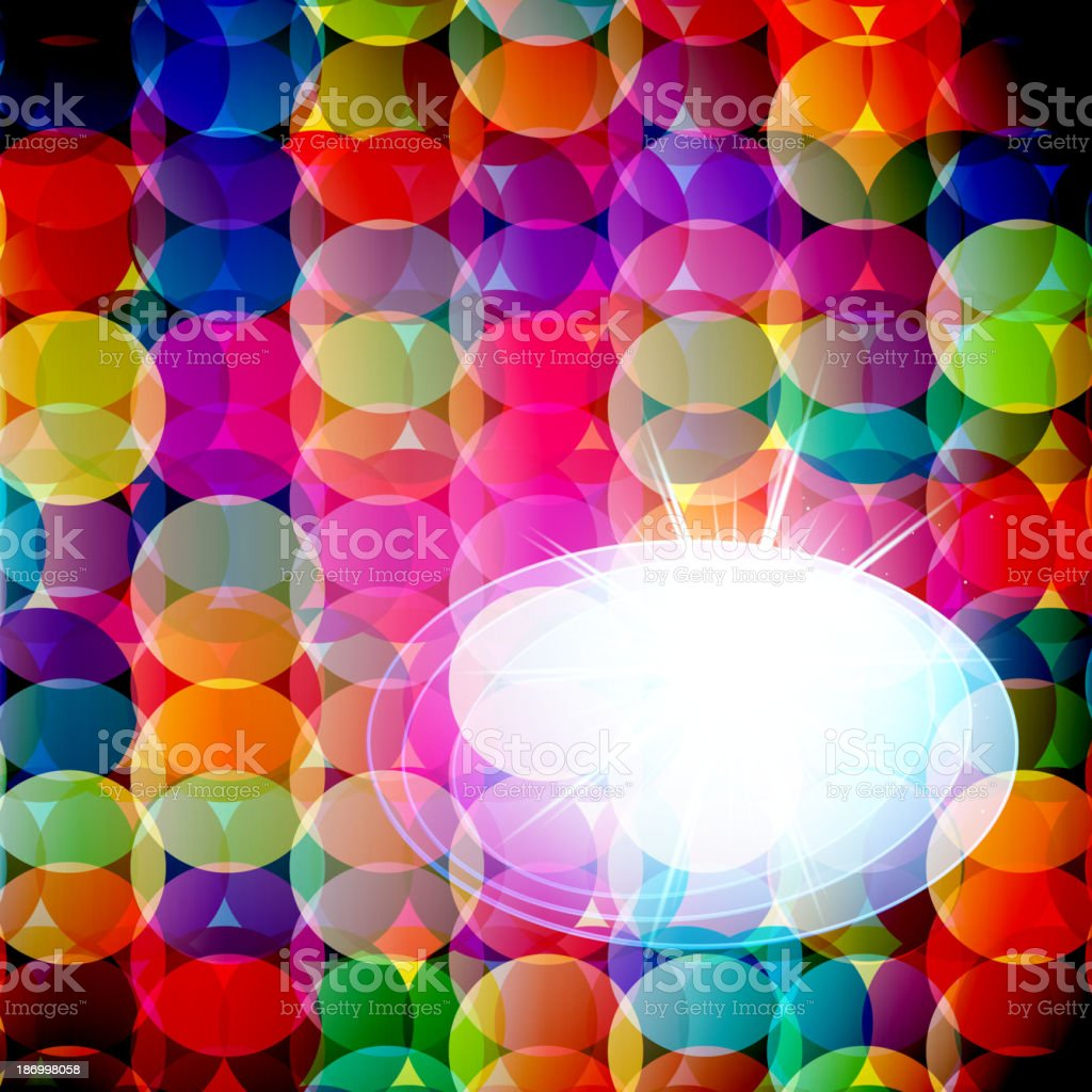 Abstract mosaic background made of colorful circles. Vector Illustration royalty-free stock vector art