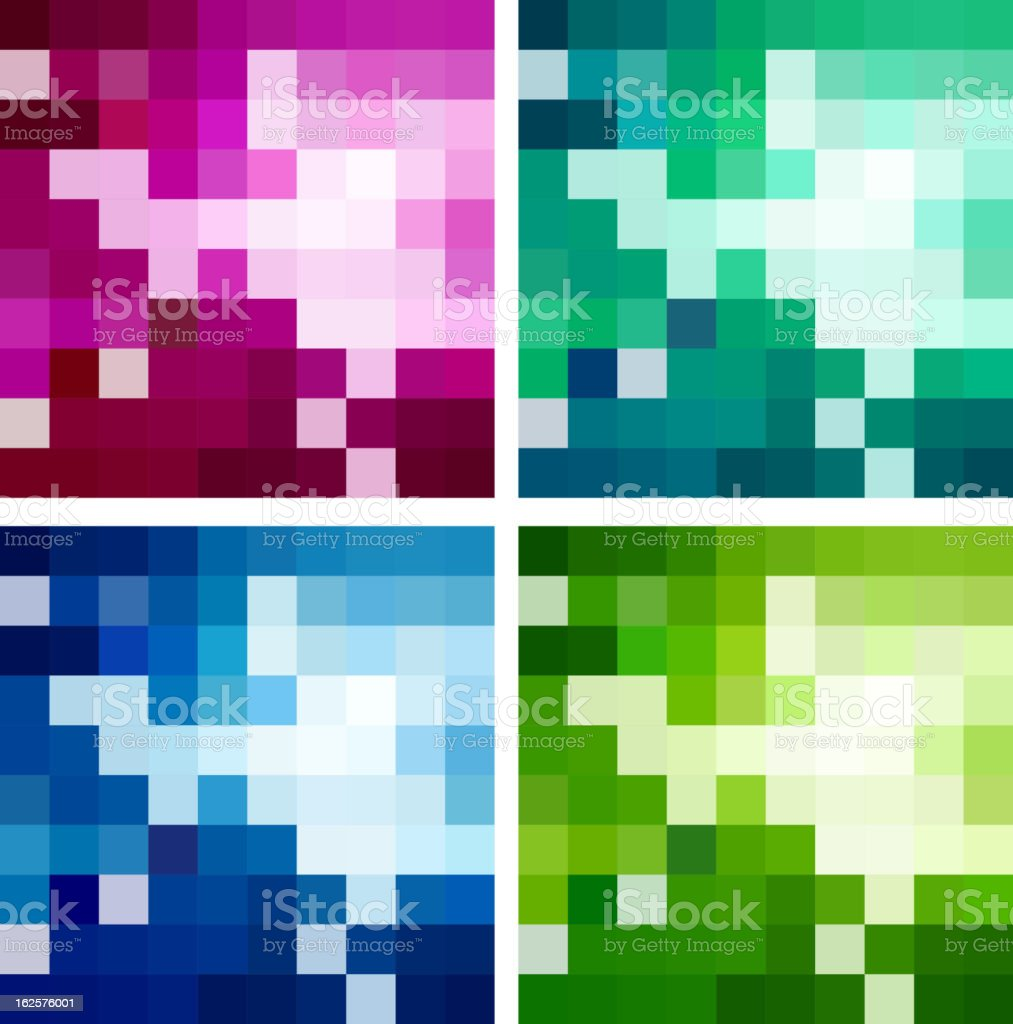 Abstract mosaic backgrounds royalty-free stock vector art