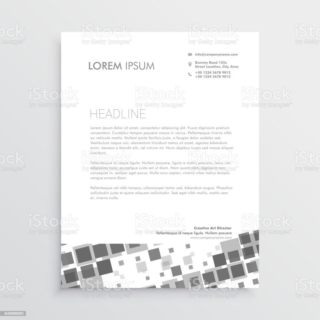 Ilustración de Plantilla De Diseño De Hoja Membretada Mosaico ...