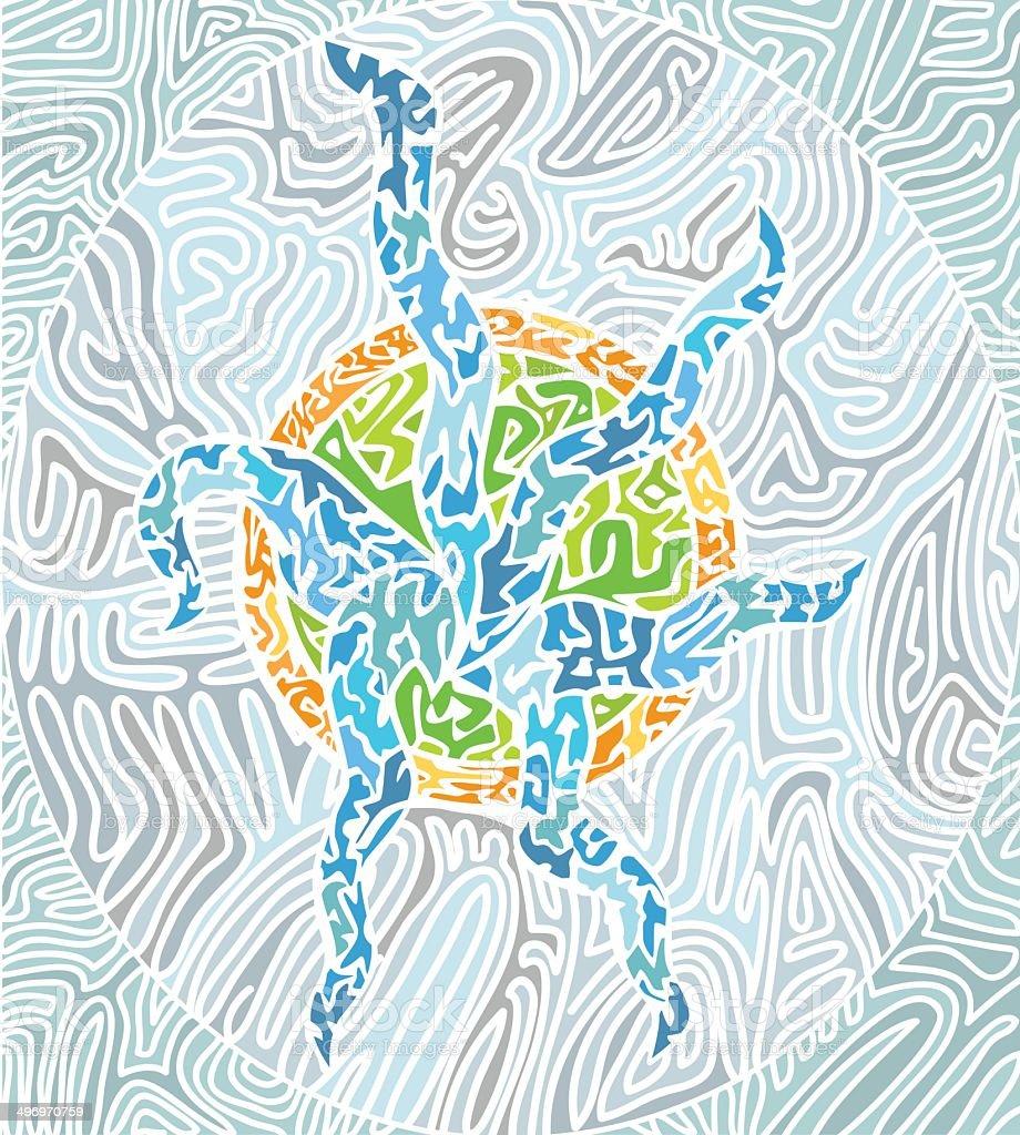 abstract mosaic pattern royalty-free stock vector art