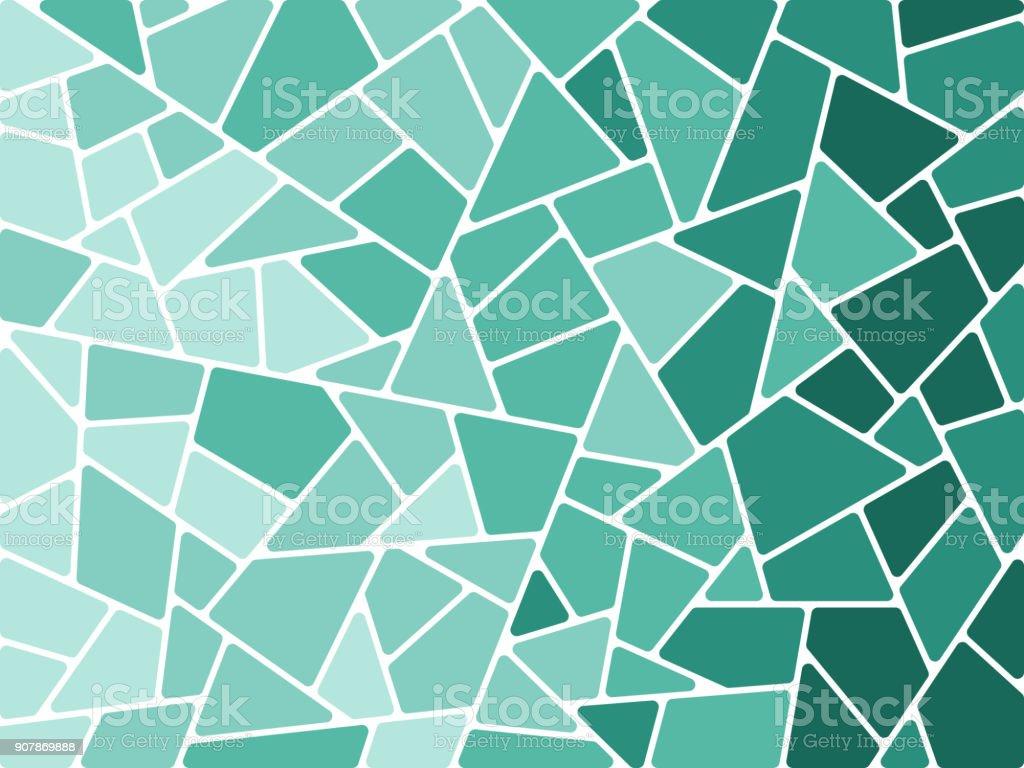 Abstrakte Mosaik Formen Hintergrund – Vektorgrafik