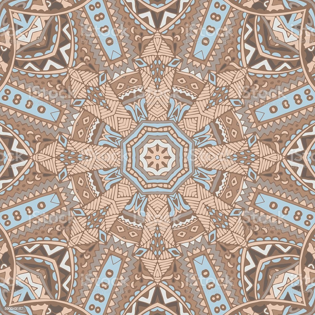 Abstrakte Mosaikfliesen Nahtlose Musterung Ornament Stock Vektor Art