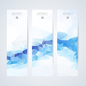 Abstract mosaic vertical banners set