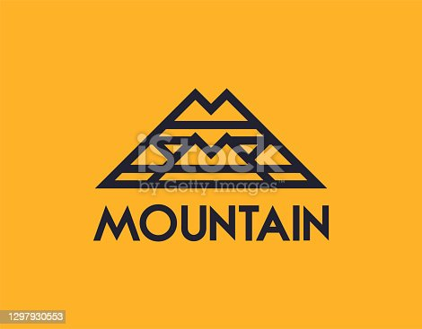 istock Abstract mountain or letter M 1297930553